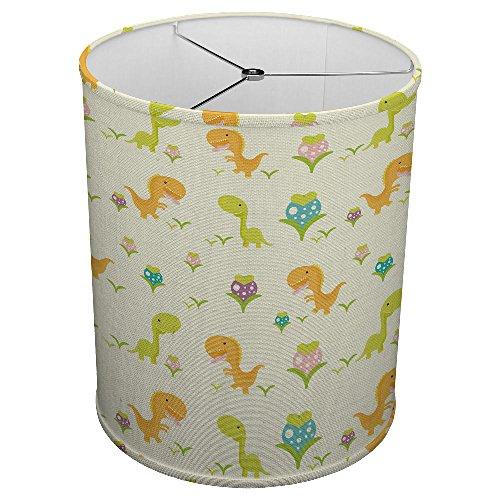 Hardback Linen Drum Cylinder Lamp Shade 8'' x 8'' x 8'' Spider Construction [ Dinosaur Children Art ] by ArtLights (Image #2)