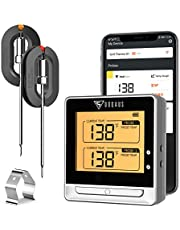 DOQAUS Bluetooth Meat Thermometer, Wireless Meat Thermometer for Grilling, Digital BBQ Thermometer with 2 Probes, 197ft Remote Grill Thermometer with Kitchen Timer for Turkey, Smoker, Oven, BBQ, Food, Cooking