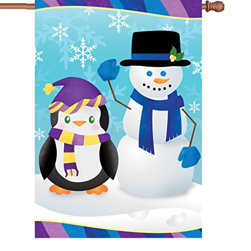Premier 52395 House Brilliance Flag, Penguin's Pal, 28 by 40-Inch