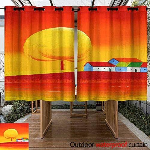 VIVIDX Pérgola de Porche con arandela para Cortina de Exterior y de Playa (2 Paneles): Amazon.es: Jardín
