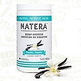 Best Hemp Protein Powder + Omega (454 g) Vanilla, NATERA Vegan Protein Supplement
