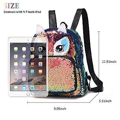 Cute Owl Reversible Sequin Backpack for Girls School Book Pack for Teens Lightweight Travel Backpack | Kids' Backpacks