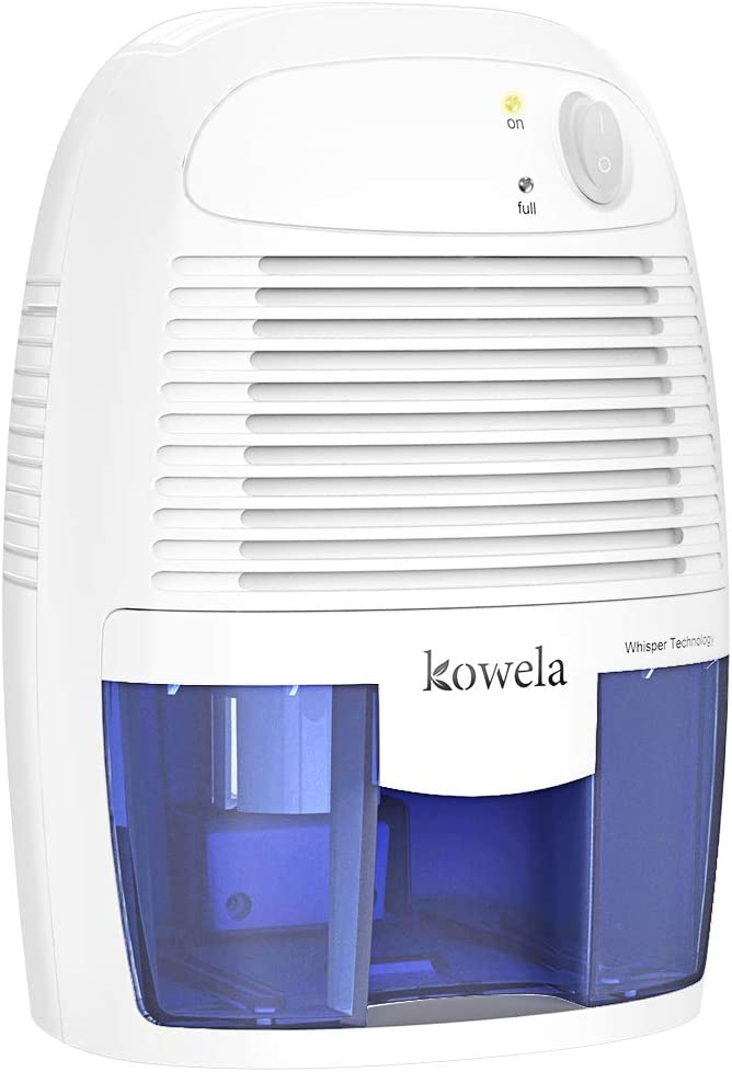 Kowela Electric Mini Dehumidifier, Quiet dehumidifier for Home 2201 Cubic Feet Compact Portable Small Dehumidifiers for Home Bathroom Kitchen Bedroom Basement Caravan Office Garage