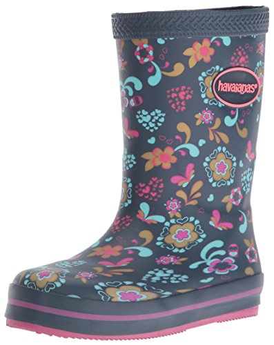 Havaianas Girls' Galochas Prints Rain Pull-On Boot, Navy Blue, 31 BR(2 M US Little - Havaianas Boots
