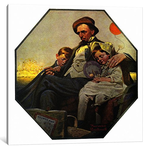 iCanvasART 1-Piece Home from The County Fair Canvas Print by Norman Rockwell, 12 by 12