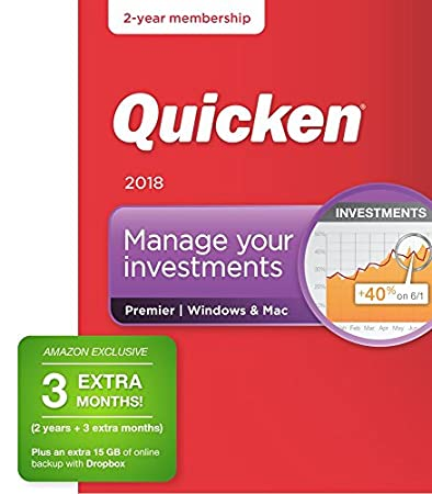 Quicken Premier 2018 Release – [Amazon Exclusive] 27-Month Personal Finance & Budgeting Membership