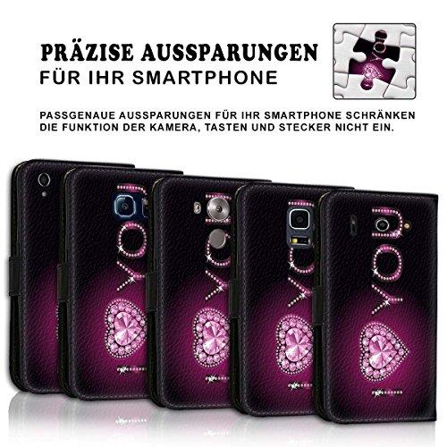 Wallet Book Style Flip Handy Tasche Case Schutz Hülle Schale Motiv Etui für Apple iPhone 4 / 4S - Design Flip MVD388