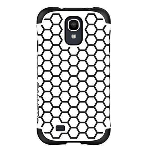 - Ballistic Aspira Honeycomb Pattern Case for Samsung Galaxy S4 - Retail Packaging - White/Black