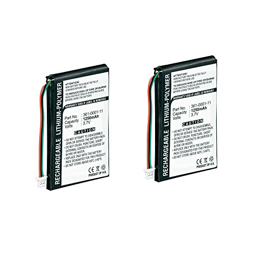 New 2 Pack of Garmin Nuvi 760 Battery - Replacement Battery for Garmin Nuvi GPS System - Rechargeable Lithium Polymer Batteries hot sale