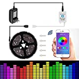 Led Strip Lights 16.4ft/5m Non-Waterproof LED Lights Kit 5050 RGB Rope Lights
