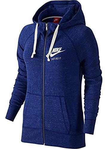 Nike Women's Gym Vintage Full_Zip Hoodie, Blue 726057-455 Size M