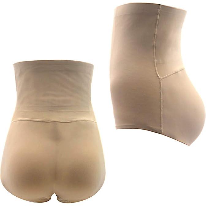 3f8614e890c Telige Women s Seamless Butt Lifter Padded Briefs High Waist Enhancer Tummy  Control Shaper Panties (S