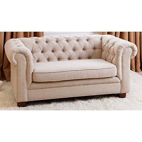 Abbyson Living RJ Kids Mini Fabric Chesterfield Sofa in - Chesterfield Kids