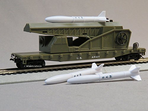 MRC MODEL POWER US ARMY MISSILE LAUNCHER CAR ho scale