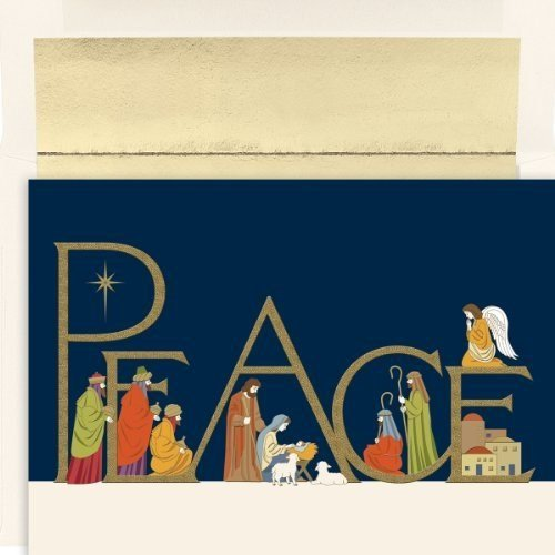 Masterpiece Studios Hortense B Hewitt Holiday Greetings, Peaceful Night, Box of 16 ()