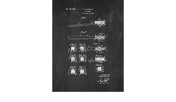 Cepillo de dientes patente en pizarra (cm 27,94 perfectdarts 35,56 cm): Amazon.es: Hogar