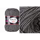 Milk Cotton Yarn R1002 knitting Yarn Scarf Yard Warm & Soft Yarn, Dark Grey(37#)