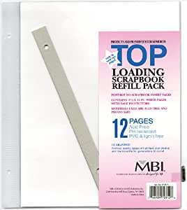 MBI by MCS 8.5 by 11-Inch Scrapbook Page Refills, 6 Pages