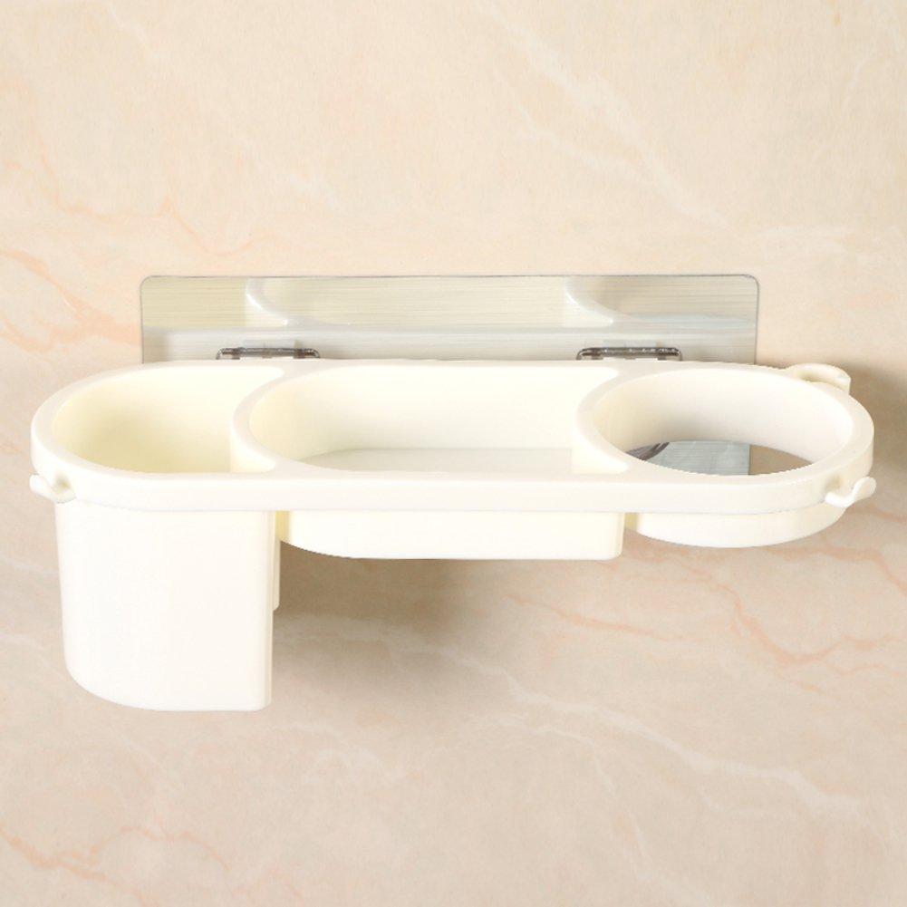 HUIJNJIY Plastic bathroom shelf,Bathroom shelter,Bathroom shelf,Bathroom shelf,For Kitchen Bathroom-White 27x9x8cm(11x4x3inch) chic