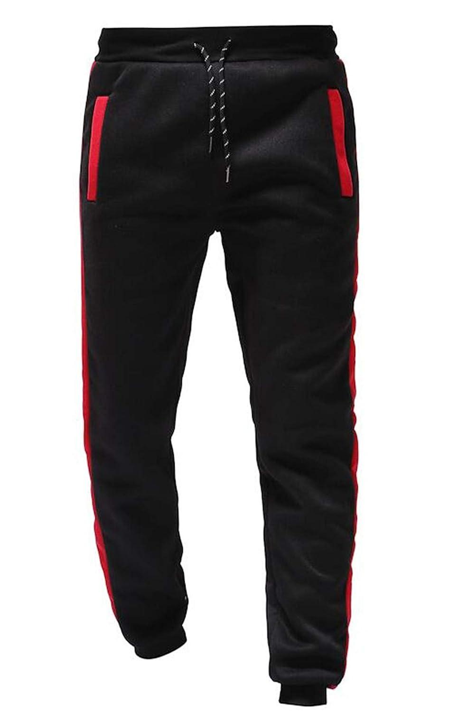 XiaoTianXinMen XTX Mens Casual Drawstring Waist Color Block Slim Fit Loose Sweatpants
