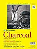 """Strathmore 300 Series Charcoal Pad, White, 18""""x24"""" Wire Bound, 24 Sheets"""