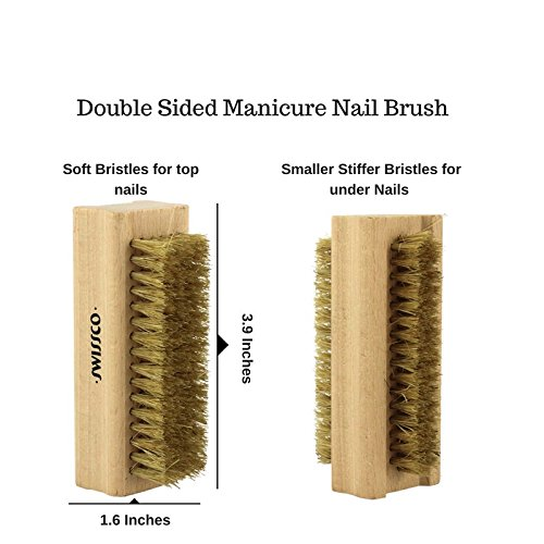 Swissco Wooden Nail Brush Natural Bristle