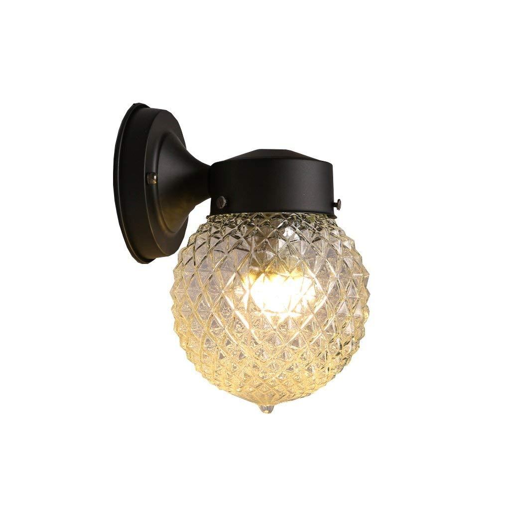NANIH Home American Simple Ball Schmiedeeisen Wandleuchte Kugellampe aus Glas Einzelne LED Wandleuchte Wandleuchte
