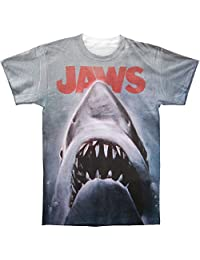Jaws 1970 Shark Thriller Spielberg Movie Film Poster Adult 2-Sided Print T-Shirt
