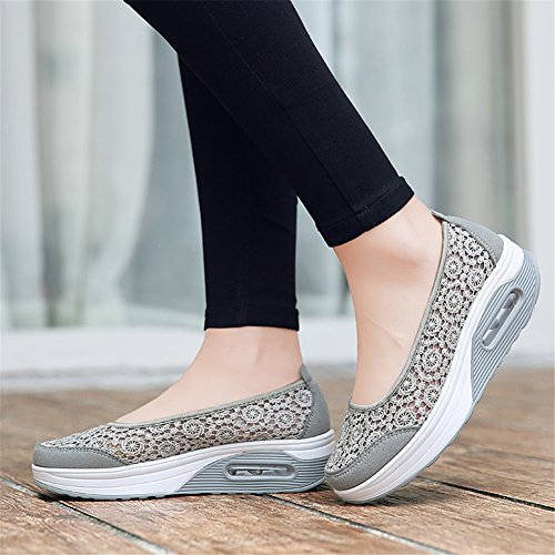 On Shoes Scarpe Slip Mesh Walk Bocca Scarpe Altezza Work Summer Shallow Shoes Travel Shake B pigri donna SHINIK Aumenta Top New Low da Casual For 8dq8FH