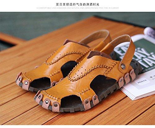 Pantofole di tendenza della spiaggia di Sandals delle donne del nuovo uomini, marrone, Regno Unito = 9,5, EU = 44