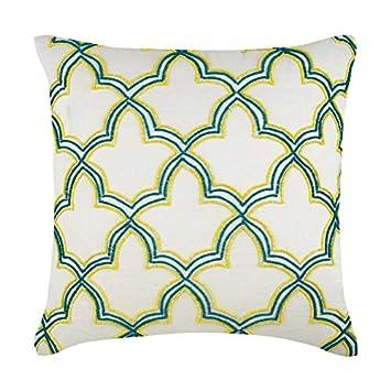 Amazon.com: Lujo cuadrada para lino y algodón almohadas ...