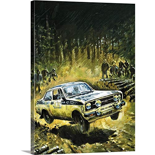 Rally Stage (GREATBIGCANVAS Gallery-Wrapped Canvas Entitled 70 Stages to Success, The Story of Britain's Toughest Motor Rally, 1981 by Graham Coton 12