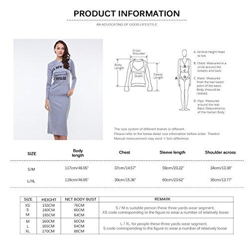 Glo-Story - Robe - Femme -  Gris - L/XL