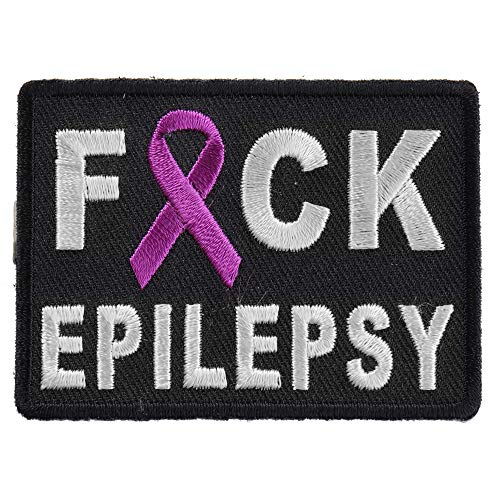 (FCK Epilepsy Patch - 2.75x2 inch. Embroidered Iron on Patch)