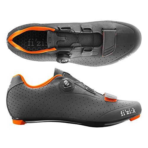 (fizik/フィジーク)(自転車用シューズ/靴用品)R5B UOMO(メンズ)BOA グレー/オレンジ 39   B01EVEUH4E