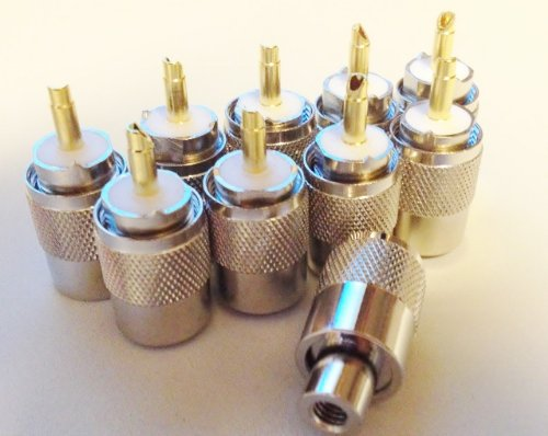 10 x Bidatong pl-connettore con oro lápiz PL-259/6 para RG-58: Amazon.es: Electrónica
