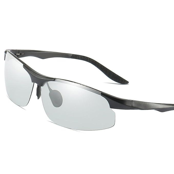 MOTELAN Day Night Photochromic Polarized Sunglasses Men's Sunglasses for Drivers Male Safety Driving Fishing UV400 Glasses Black