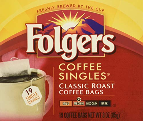 Folgers Coffee Singles Classic Roast-19 Coffee Bags (19 Bags Pack of 4-76 ()