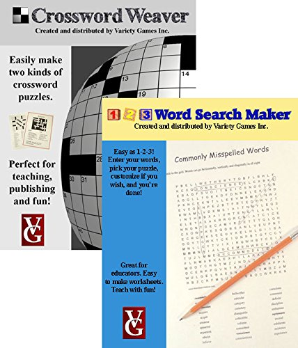 Price comparison product image Crossword Weaver + 1-2-3 Word Search Maker, Crossword and Word Search Creation Software for Windows -- Bundle Discount Plus Educator Discount
