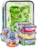 Fullstar Food Storage Containers with Lids - Plastic Food Containers with Lids - Airtight Leak Proof Easy Snap Lock and BPA-Free Clear Plastic Containers with Lids for Kitchen Use (18 Piece Set)