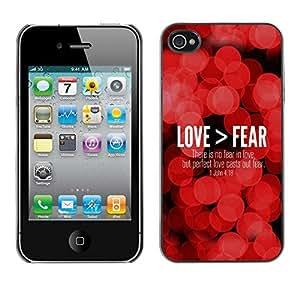 YOYO Slim PC / Aluminium Case Cover Armor Shell Portection //LOVE > FEAR - JOHN 4:18 //Apple Iphone 4