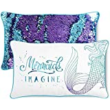 IMAGINE Mermaid Kids Pillow with Reversible Color-Changing Mermaid Sequins