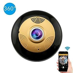 Cámara IP 360 Grados Wifi HD 960P Detección de movimiento Visión nocturna IR Inalámbrica Cámara de seguridad doméstica Audio bidireccional Asistencia Idioma español