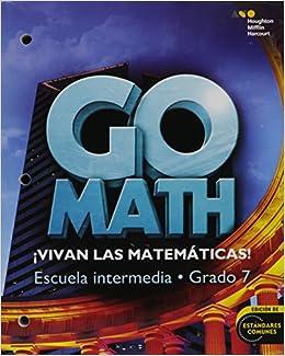 Go Math! Spanish: Student Interactive WorkText Grade 7 (Spanish Edition)