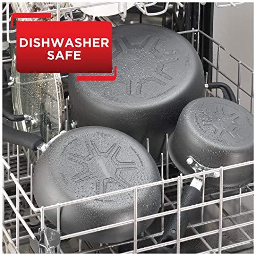 Tfal E765SC Ultimate Hard Anodized Nonstick 12 Piece Cookware Set Dishwasher Safe Pots and Pans Set