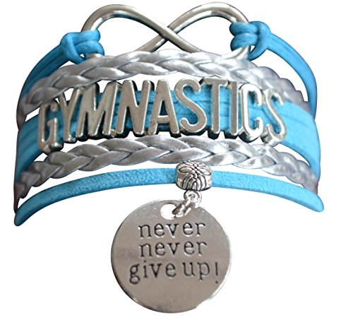 Infinity Collection Gymnastics Bracelet- Never Give Up Gymnastics Bracelet- Gymnastics Jewelry for Gymnast