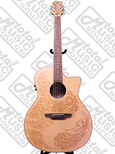 Luna Guitars Henna Oasis - Luna Henna Series Paradise Spruce Acoustic-Electric Guitar - Natural