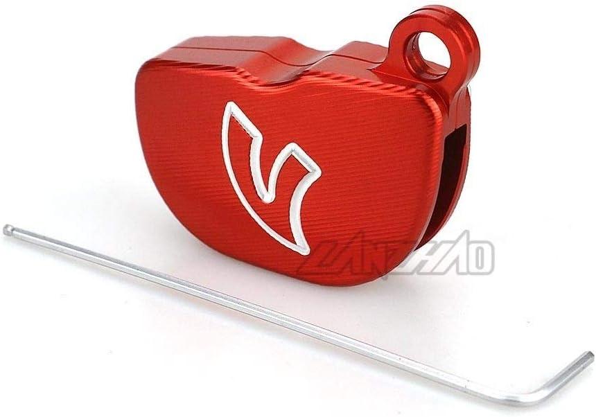 Color : Red YUQINN Motorradteile CNC Aluminium Motorrad-Schl/üsselkasten Shell Cover Zubeh/ör for Piaggio Vespa GTS SPRINT PRIMAVERA 125 150 LX150 Keys