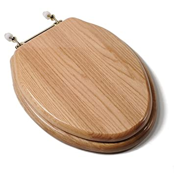 wooden toilet seat hinges. Comfort Seats C1B1E 17BR Designer Solid Wood Toilet Seat with PVD Brass  Hinges Elongated