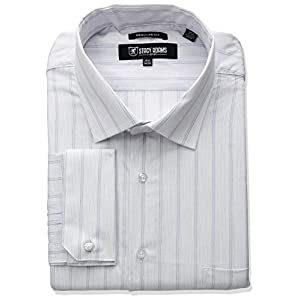 Stacy Adams Men's Big and Tall Stripe Y.d Dress Shirt